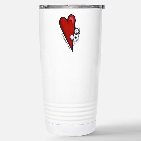 White Schnauzer Lover Stainless Steel Travel Mug