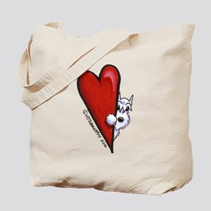 White Schnauzer Lover Tote Bag