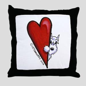 White Schnauzer Lover Throw Pillow