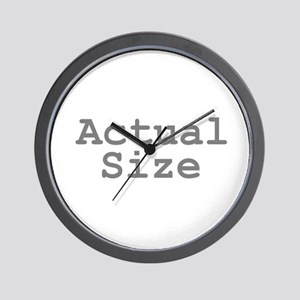 Actual Size Wall Clock