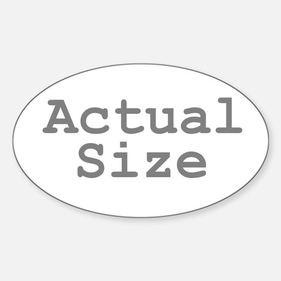 Actual Size Sticker (Oval)