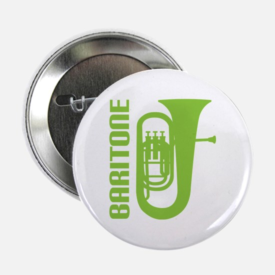 "Music Silhouette Baritone 2.25"" Button"