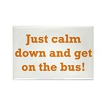 Get on the Bus Rectangle Magnet (10 pack)