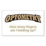 Optometry / Fingers Sticker (Rectangle)