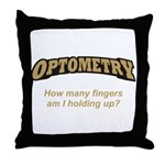 Optometry / Fingers Throw Pillow