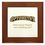 Optometry / Fingers Framed Tile