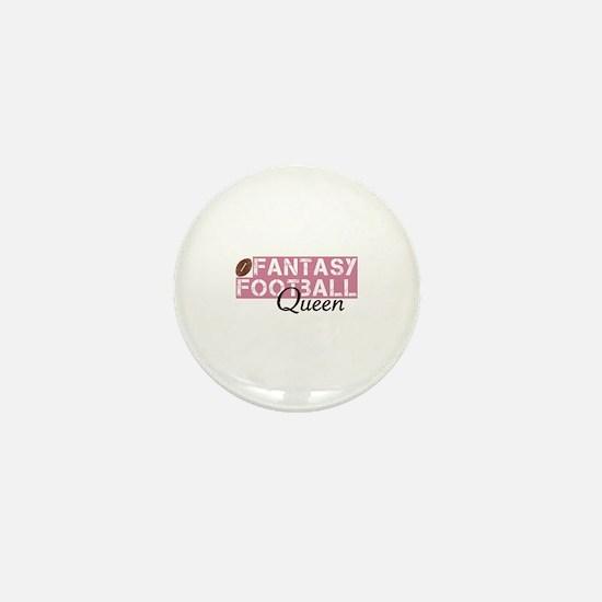 Fantasy Football Queen Mini Button