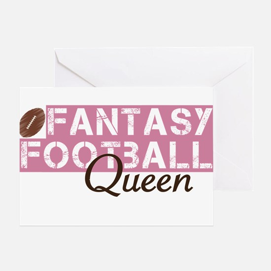 Fantasy Football Queen Greeting Card