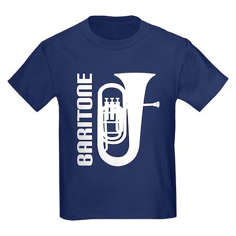 Music Silhouette Baritone Kids Dark T-Shirt