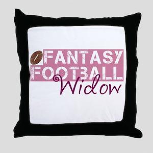 Fantasy Football Widow Throw Pillow