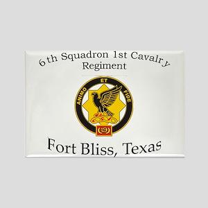 6th Squadron 1st Cav Rectangle Magnet