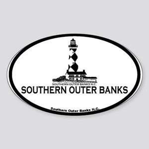 Southern Outer Banks - Map Design Sticker (Oval)