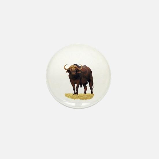 African Water Buffalo Mini Button