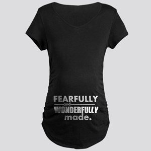 Psalm 139 Maternity Dark T-Shirt