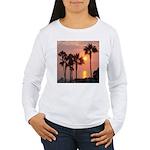 Romantic Beach Sunset Women's Long Sleeve T-Shirt