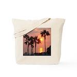 Romantic Beach Sunset Tote Bag