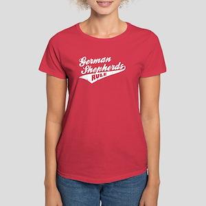 German Shepherds Rule Women's Dark T-Shirt
