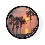 Romantic Beach Sunset Wall Clock