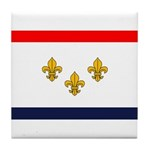 Flag of New Orleans Tile Coaster