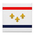 Flag of New Orleans Tile Coaster