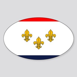 Flag of New Orleans Oval Sticker