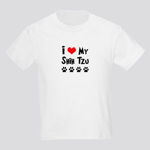I Love My Shih Tzu Kids Light T-Shirt