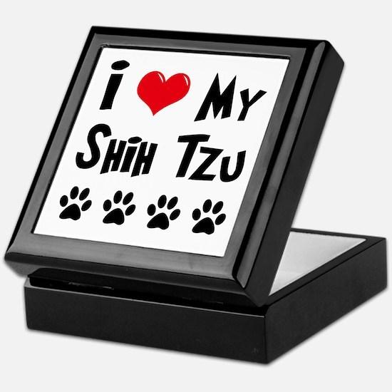 I Love My Shih Tzu Keepsake Box