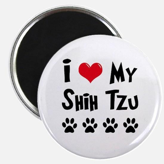 "I Love My Shih Tzu 2.25"" Magnet (10 pack)"