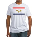 Flag of New Orleans Fitted T-Shirt