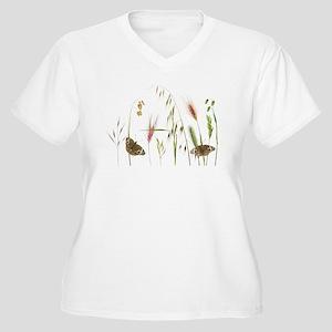 Buckeyes in Grass Women's Plus Size V-Neck T-Shirt