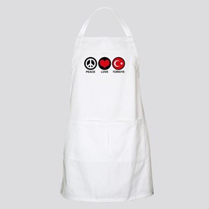 Peace Love Turkiye Apron