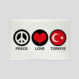 Peace Love Turkiye Rectangle Magnet