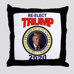 RE-ELECT TRUMP Throw Pillow