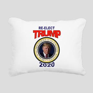 RE-ELECT TRUMP Rectangular Canvas Pillow