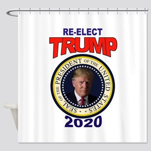 RE-ELECT TRUMP Shower Curtain