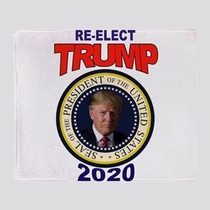 RE-ELECT TRUMP Throw Blanket