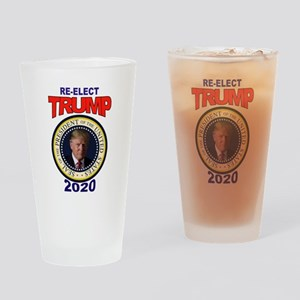 RE-ELECT TRUMP Drinking Glass