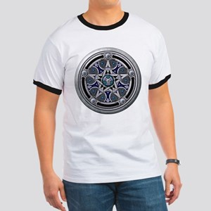 Silver Pagan Pentacle Ringer T