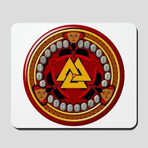 Red Viking Runes Mousepad