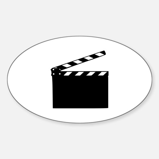 Movie - clapperboard Sticker (Oval)