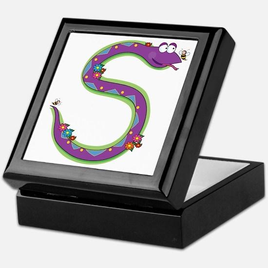 Animal Alphabet Snake Keepsake Box