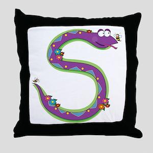 Animal Alphabet Snake Throw Pillow