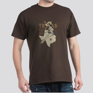 Vintage Texas Pinup Dark T-Shirt