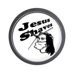 Jesus Shaves Wall Clock