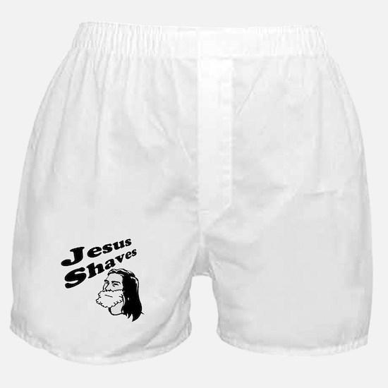 Jesus Shaves Boxer Shorts