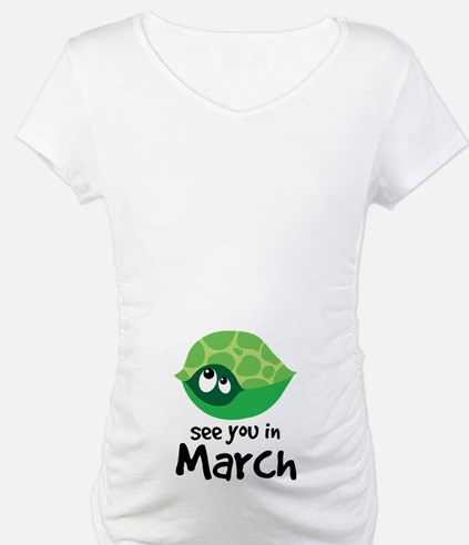 Turtle Pregnancy Due In March Shirt