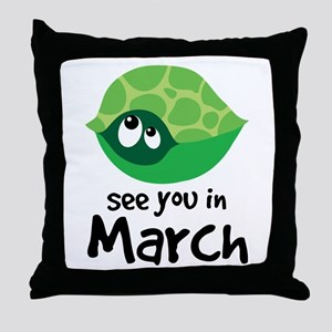 Turtle Pregnancy Due In March Throw Pillow
