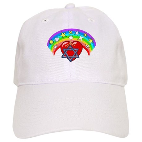 Jewish Love Hearts Cap