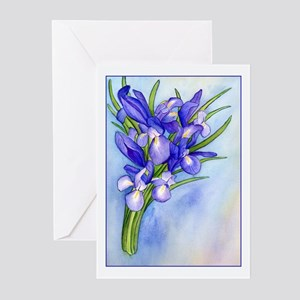 Iris Bouquet Greeting Cards (Pk of 10)