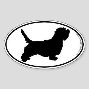 PBGV SILHOUETTE Oval Sticker